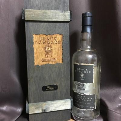 12-BLACK BOWMORE 1964 FINAL EDITION ブラック ボウモア 空函 空瓶 コルク完全品 貴重品 ボウモア最高峰 ファイナルエディション