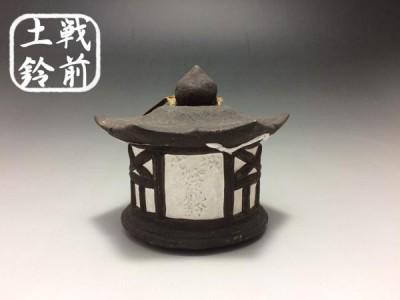 【戦前土鈴】 郷土玩具 土人形 ◆堀越神社 代城 燈籠鈴 花浪 山臼茶