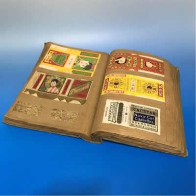 戦前 1920~40's 『煙草ラベル貼込み帳 約190枚』中国もの多数!●たばこ タバコ 支那 満州 満洲 美人 朝鮮 大東亜戦争