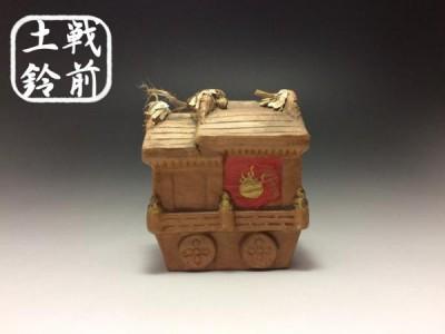 【戦前土鈴】 郷土玩具 土人形 ◆堀川戎神社 地車鈴